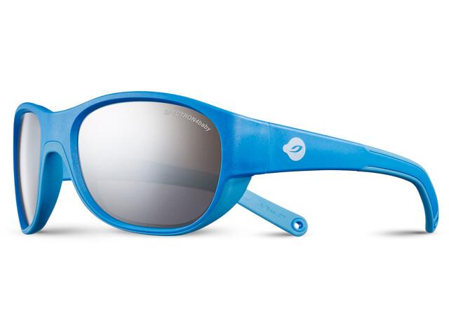 Julbo Luky Spectron 4 Sunglasses 4-6Y Kids cyan blue/blue-gray flash silver